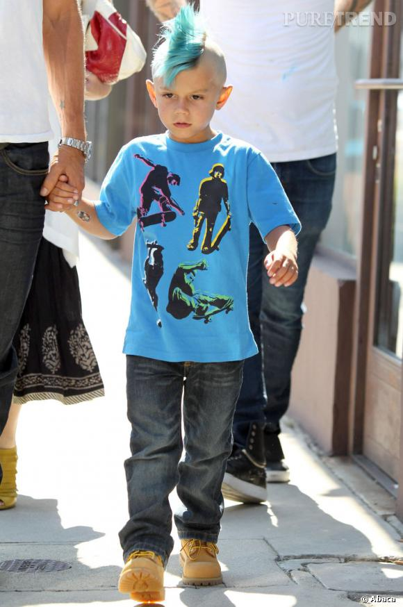 Le fils aîné de Gwen Stefani est lui accro aux colorations.
