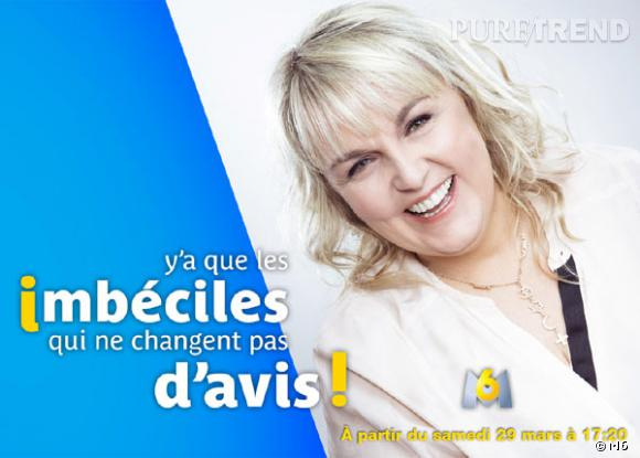 """Valérie Damidot présentera """"Y'a que les imbéciles qui ne changent pas d'avis"""" à partir du 29 mars 2014."""