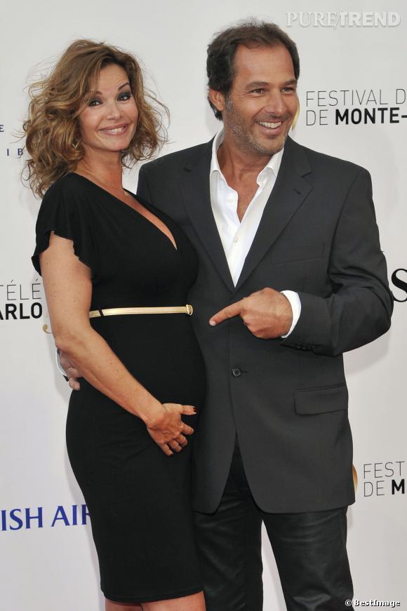 Ingrid Chauvin et son mari Thierry Peythieu à Monaco le 9 juin 2013.