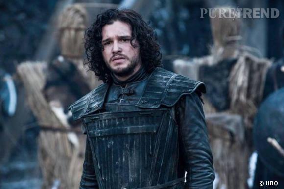 Jon Snow, le personnage héroïque interprété par Kit dans la série Game of Thrones.