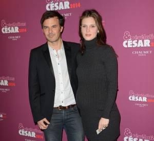 Varine Vacth et son baby bump au dîner des révélations des César 2014, aux côtés de François Ozon.