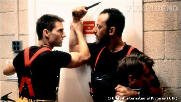 """Jean Reno et Tom Cruise dans """"Mission : Impossible"""" en 1996."""
