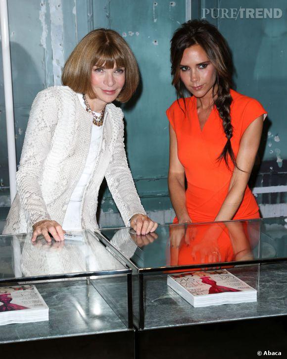 Victoria Beckham et Anna Wintour en septembre 2012. Leurs rapports ne seraient plus au beau fixe.