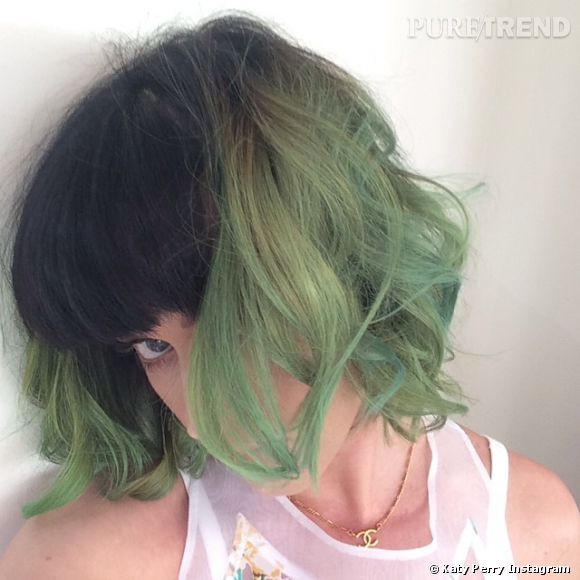 Katy Perry passe au vert le 7 avril 2014.