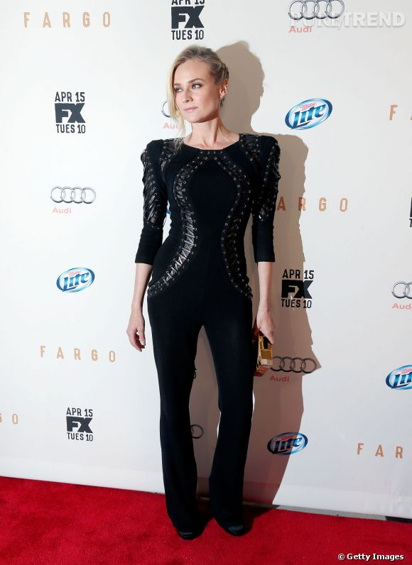 """Diane Kruger en Zuhair Murad   Automne-Hiver 2014-2015   lors de la projection de """"Fargo"""" à New York le 9 avril 2014."""