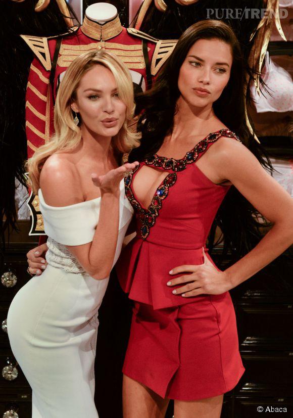 Candice Swanepoel et Adriana Lima, Anges sexy pour Victoria's Secret.