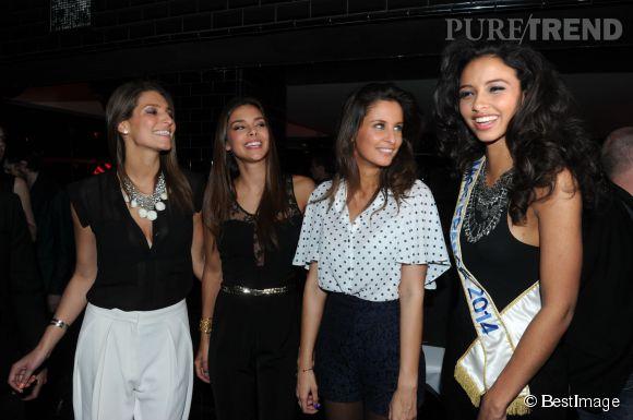 Quatuor de Miss France pour une soirée glamour à La Gioia à Paris.