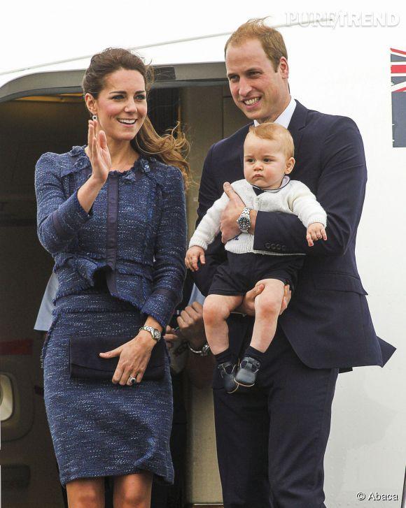 Le Prince George très royal lors de son arrivée en Australie le 16 avril 2014.