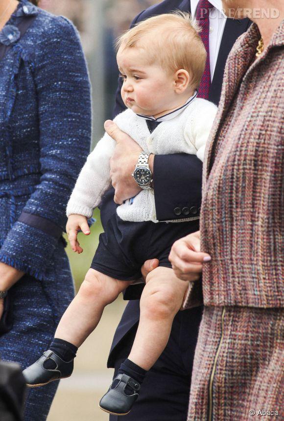 A même pas 1 an, le fils de Kate Middleton est déjà très expressif.