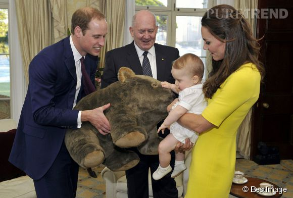 Un nouvel ami australien pour le Prince George le 16 avril 2014.