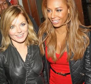 Geri Halliwell et Melanie Brown sont restées bonnes copines, ici à Londres le 7 février 2013.