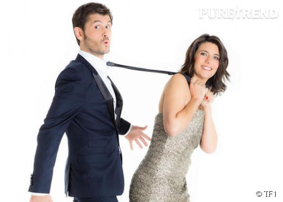 """Estelle Denis et Christophe Beaugrand partagent le plateau de """"The Best, le meilleur artiste"""" sur TF1 et avouent à Télé 7Jours qu'ils sont des amis de longue date."""