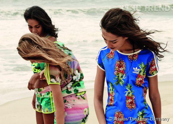 Adidas X The Farm Company La griffe brésilienne et l'incontournable marque de sportswear ont créé en duo une ligne de prêt-à-porter aux imprimés audacieux. Disponible sur le e-shop et dans les boutiques Adidas.
