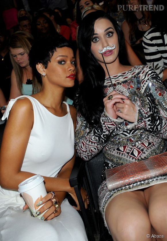 Rihanna et Katy Perry en 2012.