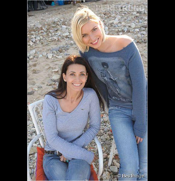 Adeline Blondieau et Nadège Lacroix sont devenues copines sur le tournage de Sous le soleil de Saint-Tropez.