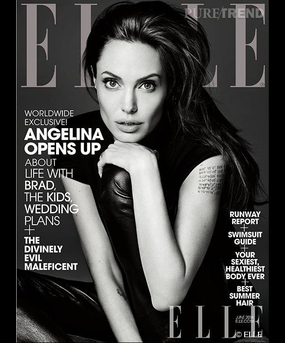 Angelina Jolie en couv du ELLE US de juin 2014.