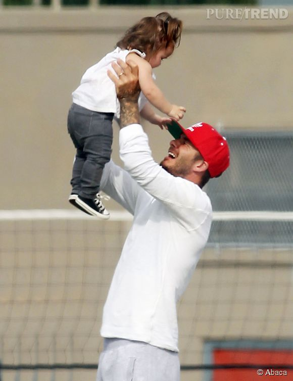 David Beckham ou le porter-lancer en 2012.