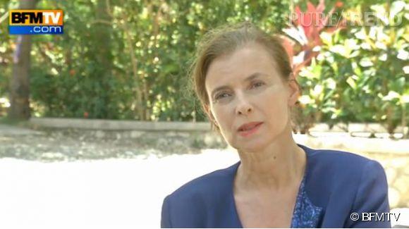 """Valérie Trierweiler se confie à BFM TV dans une interview diffusée le 13 mai 2014 et se décrit comme """"une femme libre""""."""