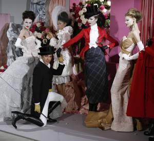 John Galliano à son apogée, lors du défilé Haute Couture Christian Dior Printemps-Été 2010.