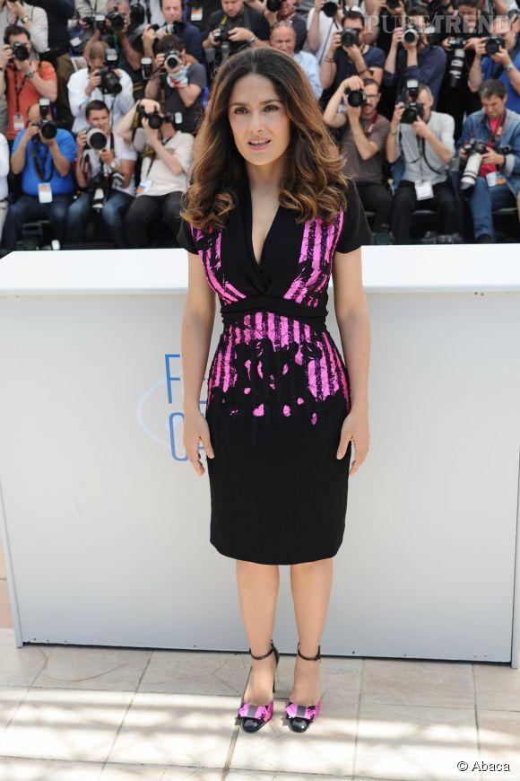 Salma Hayek au photocall de l'Hommage  au cinéma d'animation, ce samedi 17 mai 2014, au 67eme Festival de Cannes.