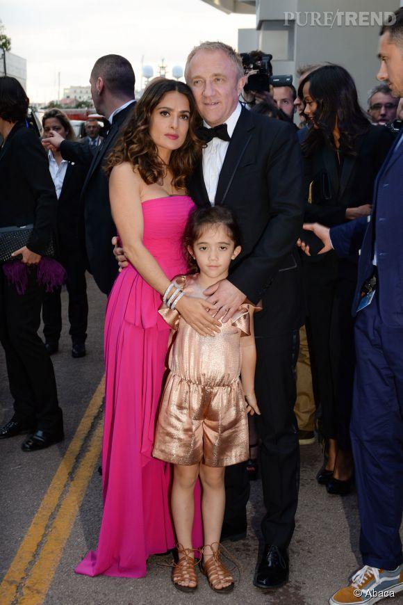 Salma Hayek, Francois-Henri Pinault et leur fille Valentina : trio très remarqué sur le tapis rouge de Cannes 2014 !
