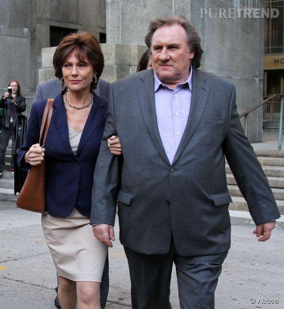"""Gérard Depardieu et Jacqueline Bisset interprètent DSK et Anne Sinclair dans """"Welcome to New-York""""."""