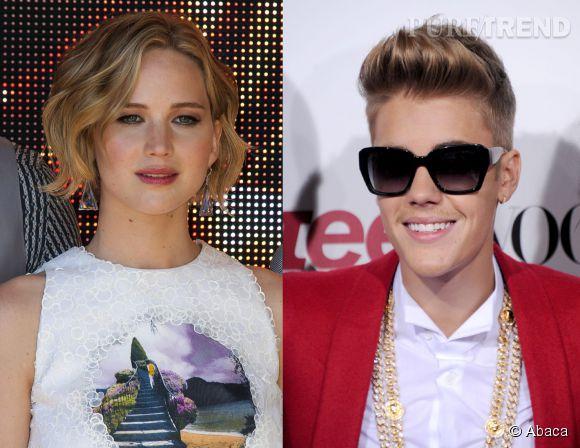 Jennifer Lawrence n'a pas voulu poser avec Justin Bieber pour une petite photo souvenir, à la soirée Vanity Fair à Cannes samedi 17 mai 2014.
