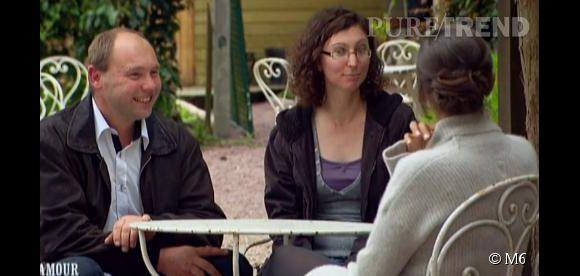 """Nouveau couple heureux et amoureux de """"L'amour est dans le pré 8"""" : Damien et Elodie."""