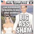 Kim Kardashian et Kris Humphries dans le New York Post en 2011.