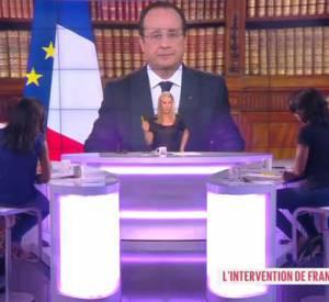 """Sur le plateau du """"Grand 8"""" sur D8, Roselyne Bachelot et Audrey Pulvar flinguent le discours de François Hollande suite aux résultats des élections européennes."""