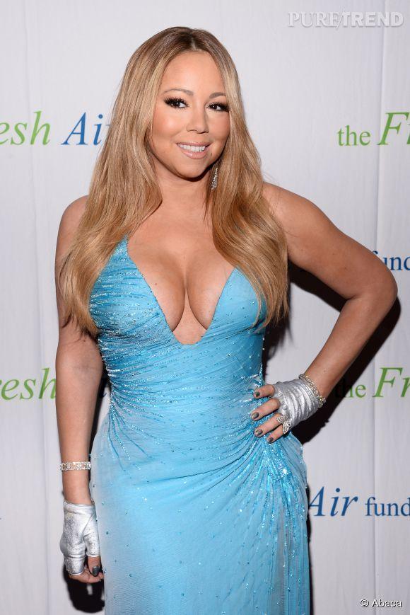 Mariah Carey à la soirée Fresh Air Fund n'a pas peur de miser sur un décolleté XXL.