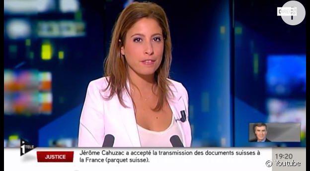Léa Salamé lors de sa bourde décolleté en août 2013.