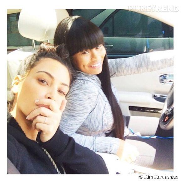 Kim Kardashian a posté ce cliché d'elle sans maquillage sur les réseaux sociaux le 10 juin 2014. Le mariage lui réussit !