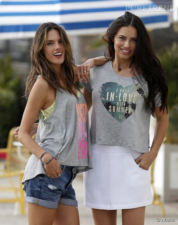 Alessandra Ambrosio et Adriana Lima en 2013.