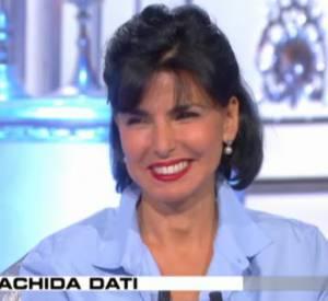 """Rachida Dati, victime de Thierry Ardisson pour """"Salut les terriens"""" et sa rubrique """"dit ou pas dit ?"""" (7:55), le 14 juin 2014."""