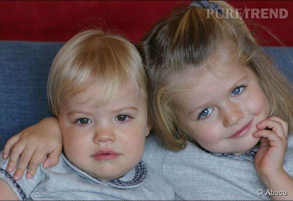 Cette photo de Sofia et Leonor d'Espagne était la carte de Noël de la famille royale en 2008.