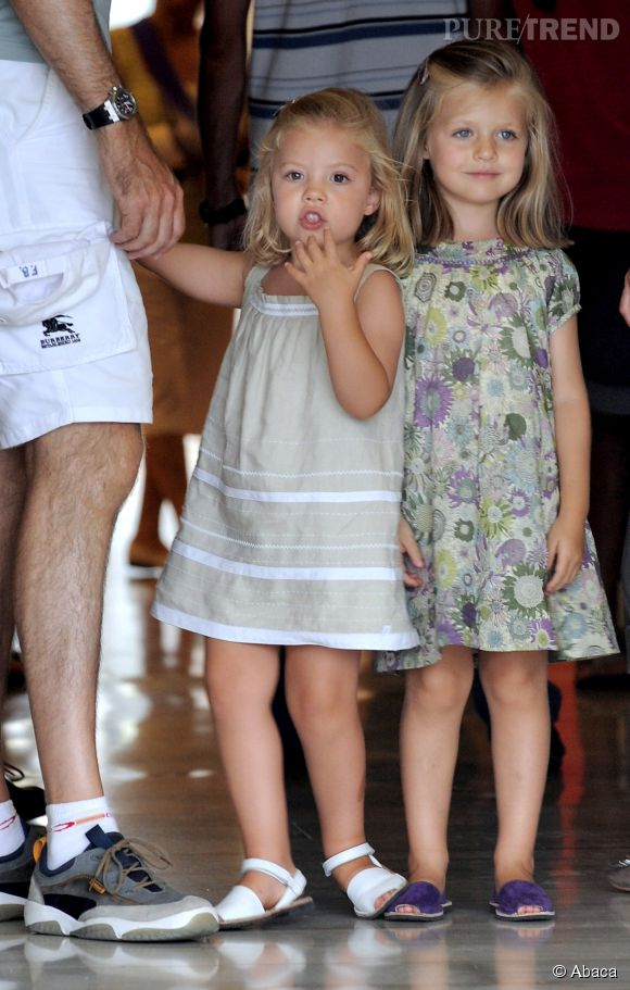 les jolies princesses d'Espagne en août 2010.