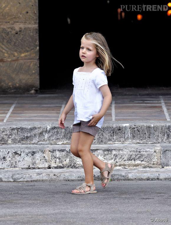 La princesse Leonor d'Espagne, peut-être le prochaine reine des Espagnols, à Palma de Majorque en août 2010.
