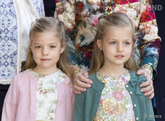 Sofia et Leonor d'Espagne en mars 2013.