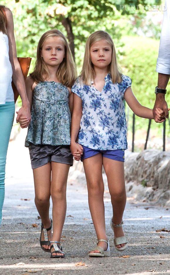 Les princesses des Asturies en août 2013.
