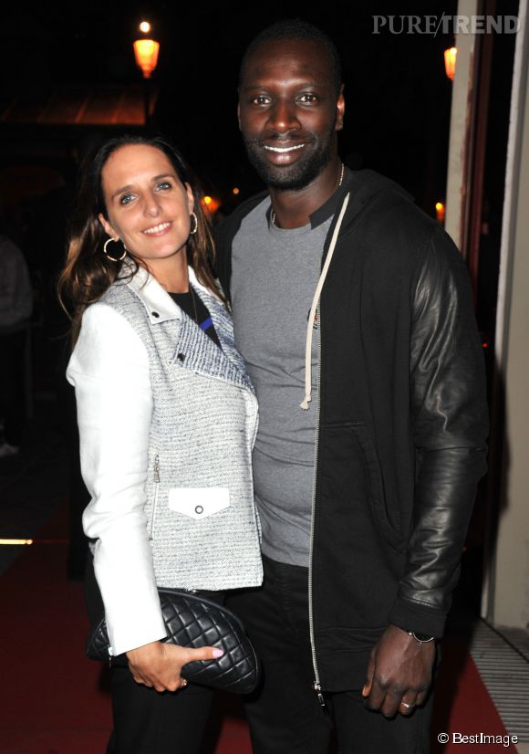 omar sy et sa femme h l ne puretrend. Black Bedroom Furniture Sets. Home Design Ideas