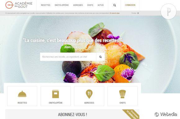 L'Académie du goût, le nouveau spot web des gourmands.