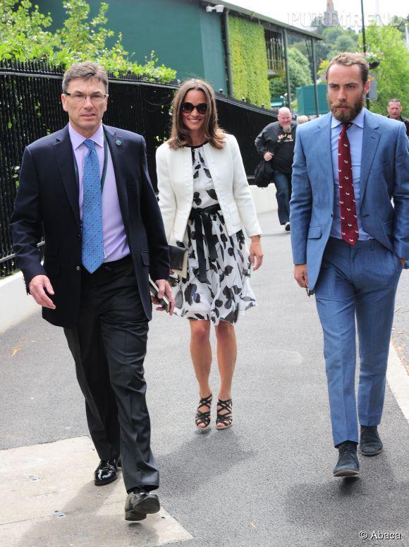 Pippa Middleton et James Middleton le 26 juin 2014 à Londres, ne manque plus que Kate.