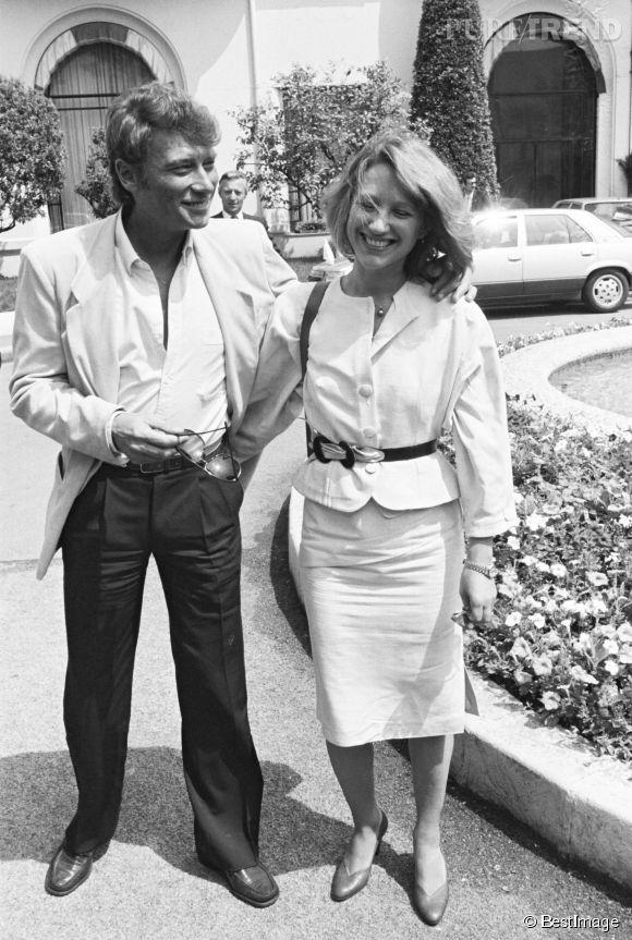 Nathalie Baye et Johnny Hallyday au Festival de Cannes en 1984.