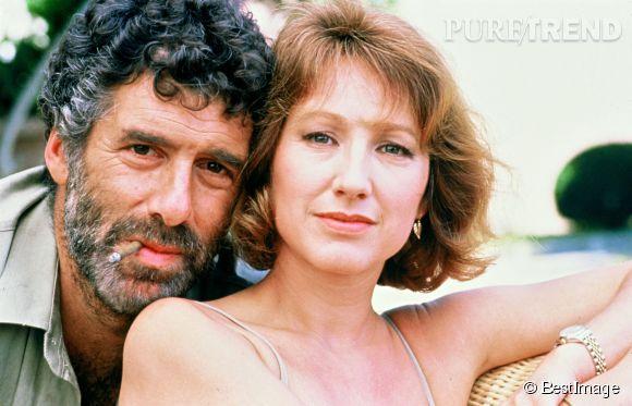 """Nathalie Baye et Elliott Gould en 1988 pour """"Le Roi blessé""""."""