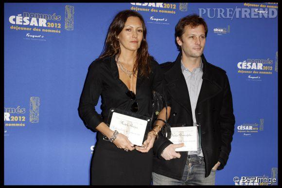 Karole Rocher et Nicolas Duvauchelle, son meilleur ami.