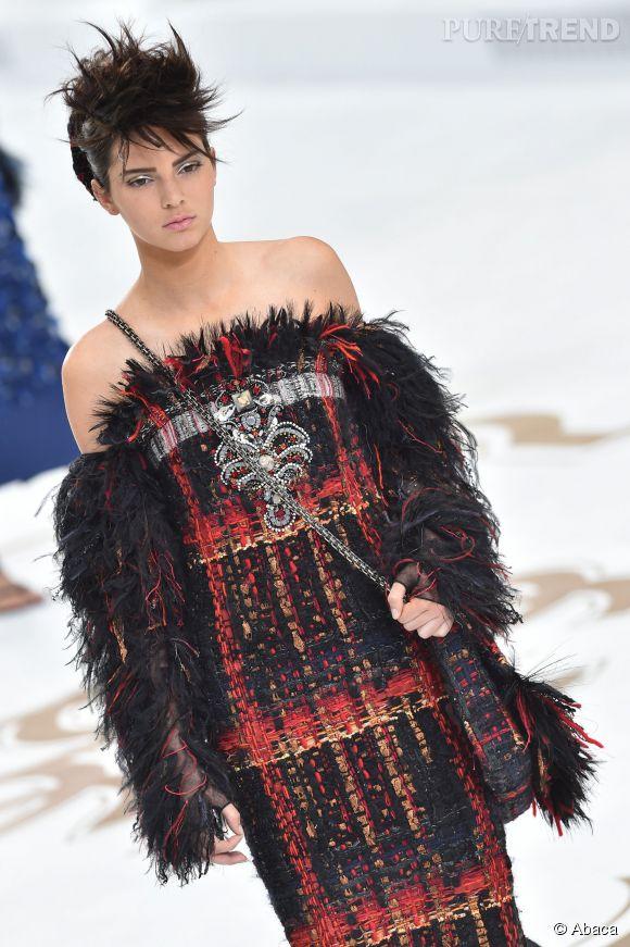 Kendall Jenner au défilé Haute Couture Automne-Hiver 2014/2015 au Grand Palais à Paris le 8 juillet 2014.