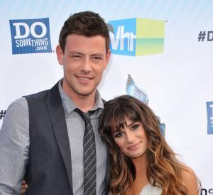 """Lea Michele et Cory Monteith, l'ex couple star de la série """"Glee""""."""