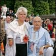 Mimie Mathy et Benoist en 2004, il est devenu son mari en 2005.