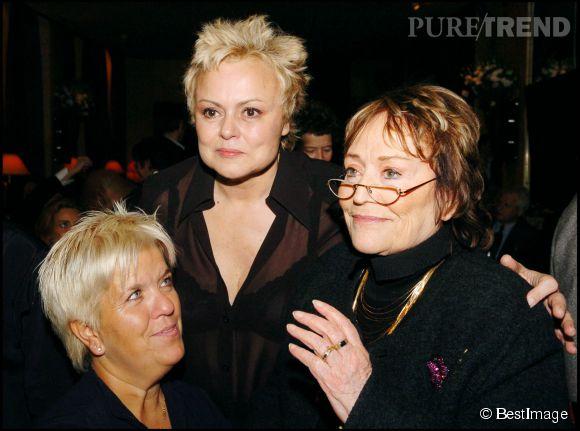 Mimie mathy avec son amie de toujorus muriel robin et for Muriel robin le salon de coiffure